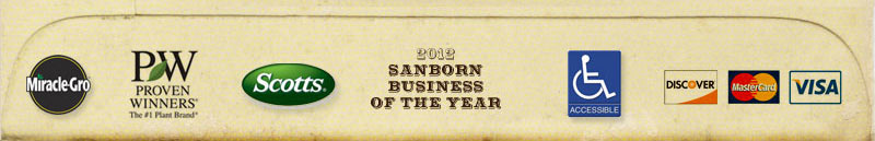 Miracle-Gro Proven Winners Scott's Sanborn Business of the Year  Handicap Accessible  Credit Cards Accepted